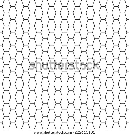 Seamless pattern of the oblong hexagonal net - stock vector