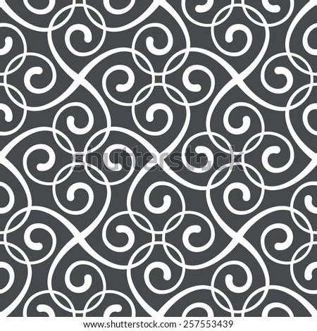 Seamless pattern of the stylish lines and curls. - stock vector