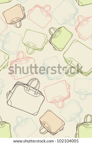 Seamless pattern of the travel bags