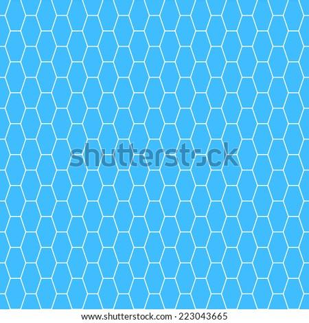 Seamless pattern of the white oblong hexagonal net - stock vector