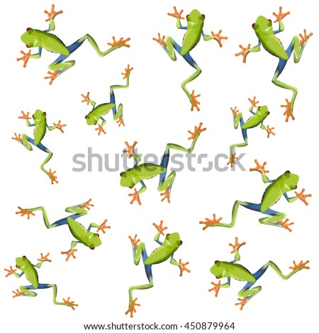 seamless pattern tree frogs vector 10 stock vector royalty free rh shutterstock com Tree Frog Art Tree Frogs in New Orleans