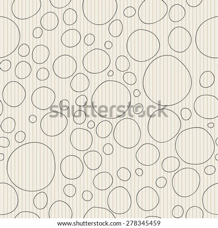Seamless pattern of uneven contour circles.
