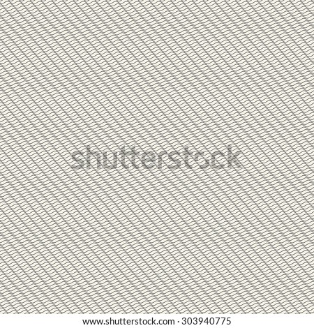 Seamless pattern of wavy lines for certificates and other forms - stock vector