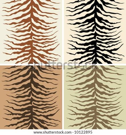 Seamless pattern of zebra skin - stock vector