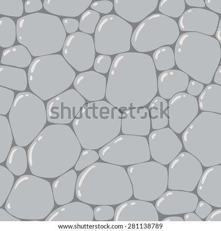 Seamless pattern or background of paving stones texture with glints - stock vector