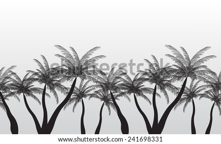 Seamless Pattern Palm Silhouette. Vector Illustration. EPS10. - stock vector