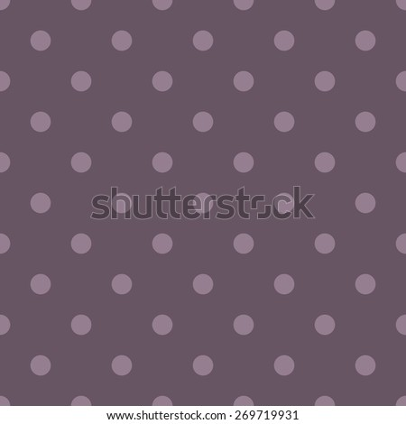 Seamless pattern polka dot style pale burgundy wine and reddish brown - stock vector
