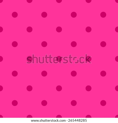 Seamless pattern polka dot style pale pink berry red - stock vector
