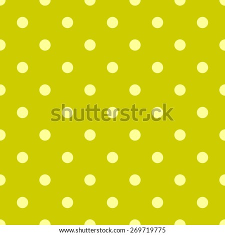 Seamless pattern polka dot style pale yellow and bright yellow mustard dark - stock vector