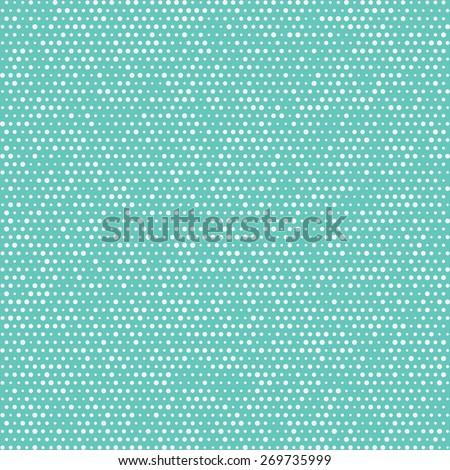 Seamless pattern polka dots. Repeating white circles. Vector - stock vector