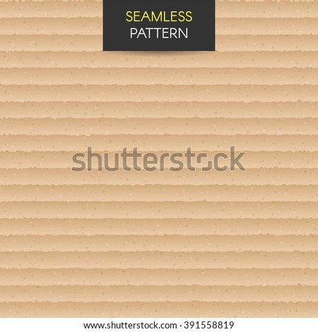 Seamless pattern Realistic cardboard vector texture background. Brown craft paper cardboard texture. Wallpapers, pattern fills, web page - stock vector