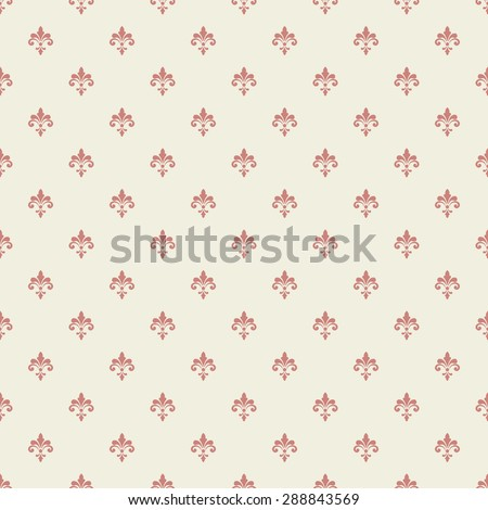 Seamless pattern. Royal pattern vector. Vintage pattern vector background. Royal background. Palace wallpaper background. Palace wall pattern. Royal wall background. Fleur de lis pattern vector. - stock vector