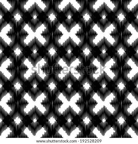 Seamless pattern, scribble style. The color is changeable by one click.   - stock vector