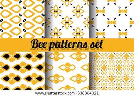 Seamless pattern set. Designer colorful seamless pattern for design, poster, greeting card or invitation - stock vector