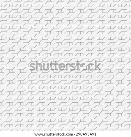Seamless pattern. Simple modern geometric texture with the repeating curved lines, squares, rhombuses. Monochrome. Backdrop. Web. Vector element of graphic design for your project - stock vector