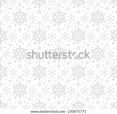 Seamless pattern, Snowflake Abstract Background, snowflake vector, snowflake background, snowflake pattern, snowflake wallpaper, snowflake texture, grey color - stock vector