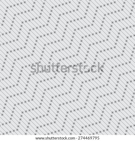 Seamless pattern. Stylish geometric texture in the form of diagonal waves. Repeating lines, dots, circles. Monochrome. Backdrop. Web. Vector element of graphic design for your project - stock vector