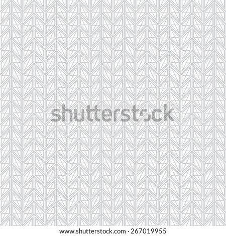Seamless pattern. Stylish geometric texture in the form of waves. Repeating parallelograms, diamonds, triangles, stripes. Monochrome. Backdrop. Web. Vector illustration - stock vector