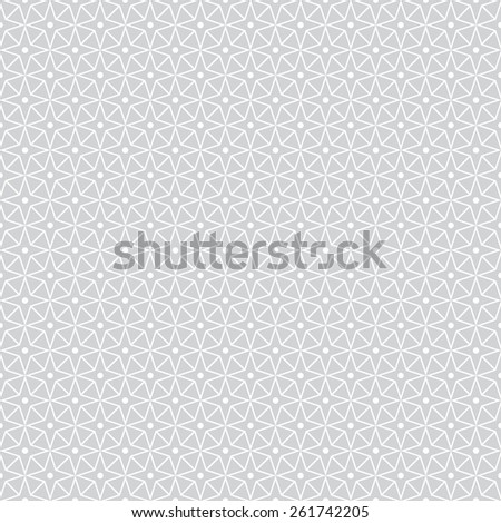 Seamless pattern. Stylish geometric texture with repeated polygons, stars and dots. Monochrome. Backdrop. Web. Outline. Vector illustration - stock vector