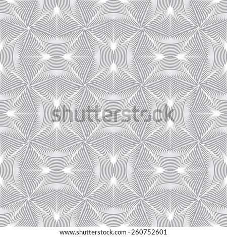 Seamless pattern. Stylish geometric texture with repeating circular elements. Outline. Monochrome. Backdrop. Web. Vector illustration - stock vector