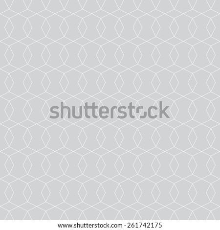 Seamless pattern. Stylish geometric texture with repeating rhombus and polygons. Monochrome. Backdrop. Web. Outline. Vector illustration - stock vector