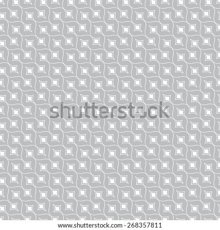 Seamless pattern. Stylish geometric texture with repeating rhombuses and  arcs. Diagonal texture. Monochrome. Backdrop. Web. Vector illustration for your design - stock vector