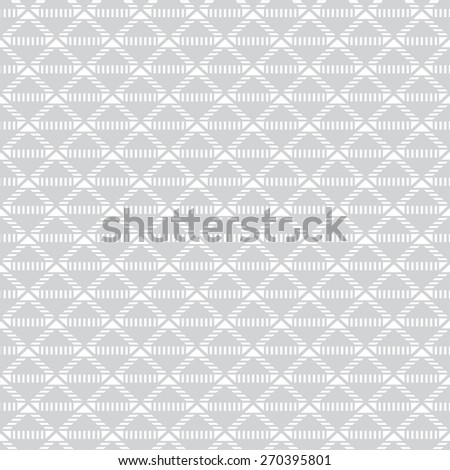 Seamless pattern. Stylish geometric texture with the repeating stripes, triangles, diamonds. Dashed line. Monochrome. Backdrop. Web. Vector illustration for your design - stock vector