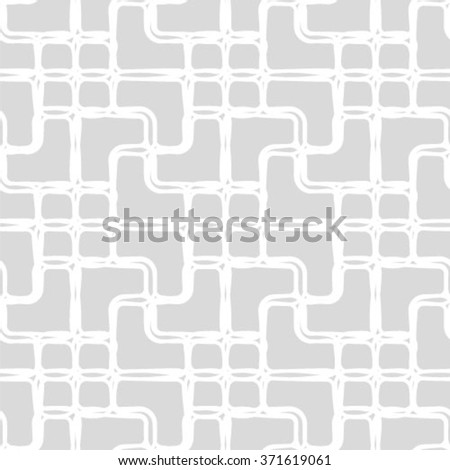 Seamless pattern. Stylish geometric texture with thin lines. Repeating rhombuses and crosses. Monochrome. Backdrop. Web. Vector illustration for your design