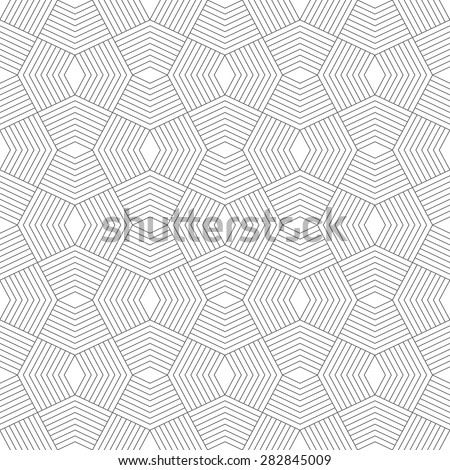 Seamless pattern. Stylish modern geometric texture. Repeating polygonal shapes, lines, rhombuses. Monochrome. Backdrop. Web. Vector element of graphic design - stock vector