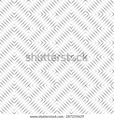 Seamless pattern. Stylish original texture. Pattern with regularly repeating geometric shapes, dots, zigzags, dotted lines. Monochrome. Backdrop. Web. Vector illustration - stock vector