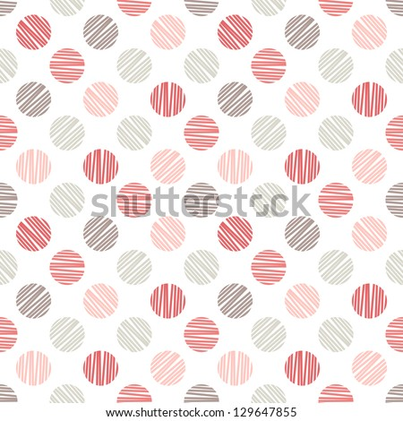 Seamless pattern. Stylish polka dot texture - stock vector
