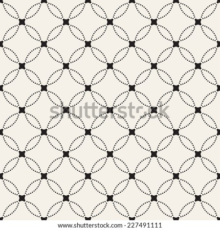 Seamless pattern. Stylish texture with dotted circles. Vector repeating background