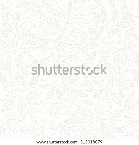 Seamless pattern, stylized leaves on  pastel background