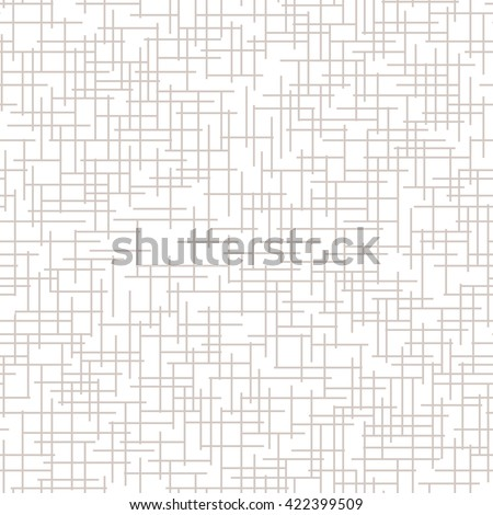Seamless pattern. Subtle abstract texture. Vector background with crossed rectangles. Neutral light backdrop. - stock vector