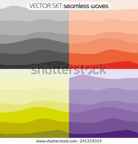 Seamless pattern. Texture of bright wavy horizontal stripes. Stylish abstract background - stock vector