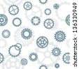 seamless pattern, tiles: gears - stock vector