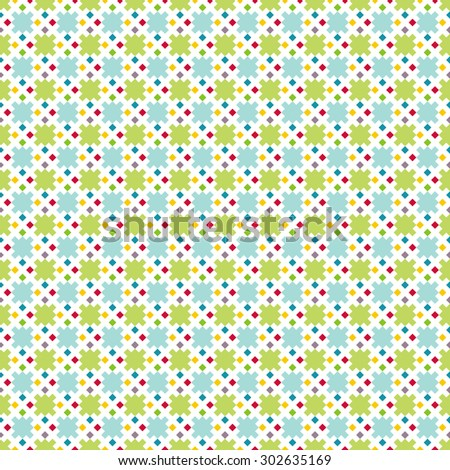 Seamless pattern. Trendy color texture. Bright colorful pattern with regularly repeating geometrical elements, shapes, pixels, squares, rhombuses. Backdrop. Web. Vector element of graphic design - stock vector