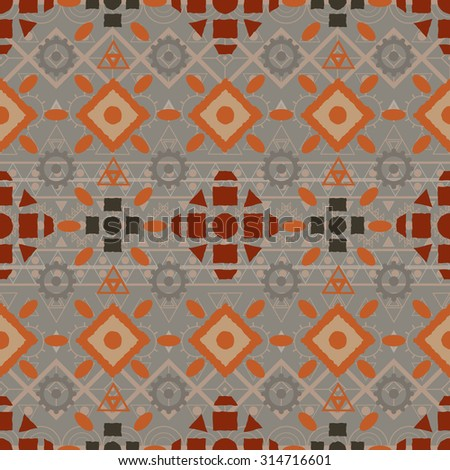 seamless pattern tribal Navajo. Ethnic hipster backdrop. Aztec geometric print. Vector illustration.