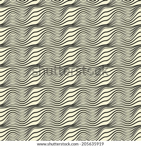 Seamless pattern. Vector abstract background. Cool striped structure
