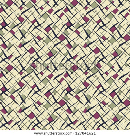 Seamless pattern. Vector abstract background with diagonal mesh - stock vector