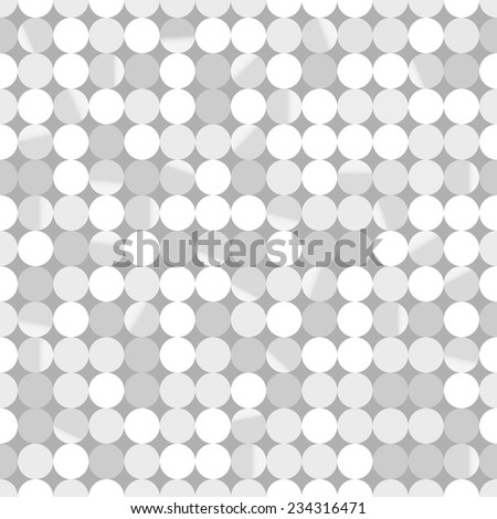 Seamless pattern.Vector background. Retro stylish texture. Repeating shiny silver paillettes - stock vector
