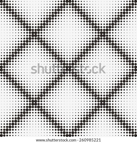 Seamless pattern. Vector halftone dots - stock vector
