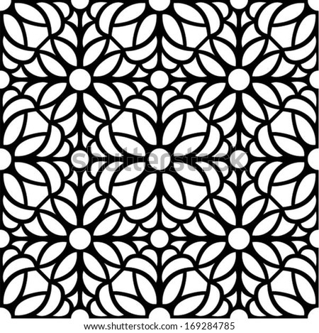 seamless pattern,vector illustration in stained glass window style - stock vector