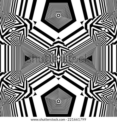 Seamless Pattern Vector 133 - Modern stylish texture. Repeating geometric tiles. - stock vector
