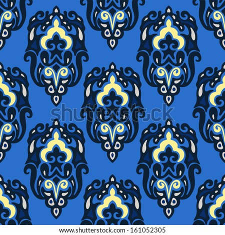Seamless pattern vector winter blue