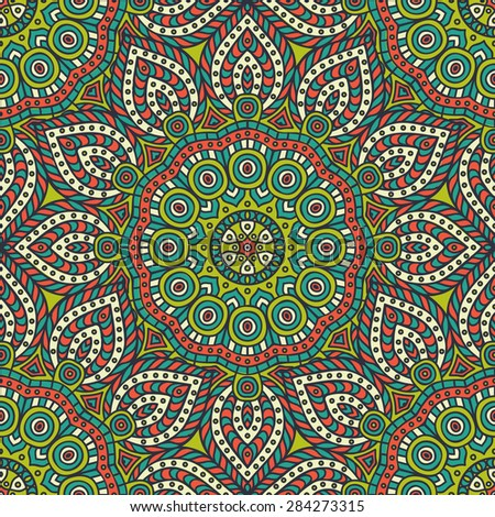 Seamless pattern. Vintage decorative elements. Hand drawn background. Islam, Arabic, Indian, ottoman motifs.