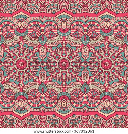Seamless pattern. Vintage decorative elements. Oriental pattern, vector illustration.  Islam, Arabic, Indian, Turkish, Pakistan, Chinese, Moroccan, Ottoman motifs