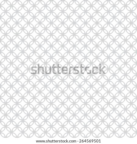 Seamless pattern. Vintage geometric texture with intersecting circles. Repeated rhombuses, ellipses, ovals. Monochrome. Backdrop. Web. Vector illustration - stock vector