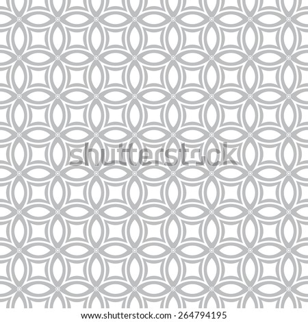 Seamless pattern. Vintage geometric texture with intersecting circles. Repeated rhombuses, ellipses, ovals, dots . Monochrome. Backdrop. Web. Vector illustration - stock vector