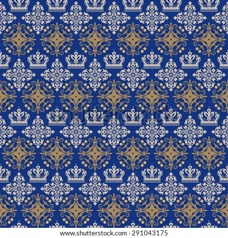 Seamless pattern. Wallpaper background for Your design. For decorating books, postcards, wallpaper, wall, web design. Background in style vintage. Vector background - stock vector